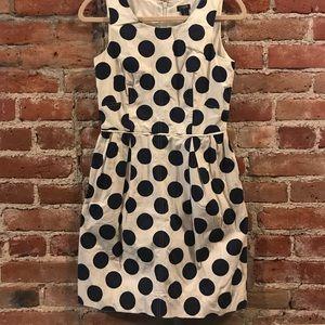 J. Crew | Polka Dot | A-line Pleated dress